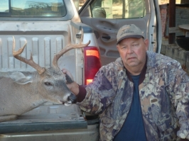 Randy Posey with a 205 pound, eight point taken with a muzzle loader.