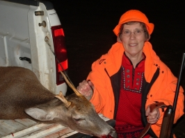 Joan Mayer's First Whitetail Deer