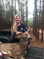 Haley Wheat with another nice Alabama Buck