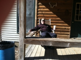 Sunning on the back porch