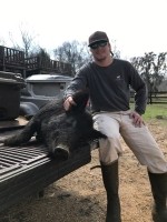 Crawford Traylor with a big porker.
